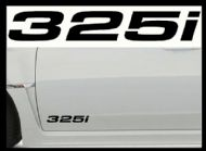 BMW 325i CAR BODY DECALS